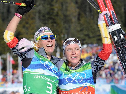 Goldenes Duo: Evi Sachenbacher-Stehle (l.) und Claudia Nystad