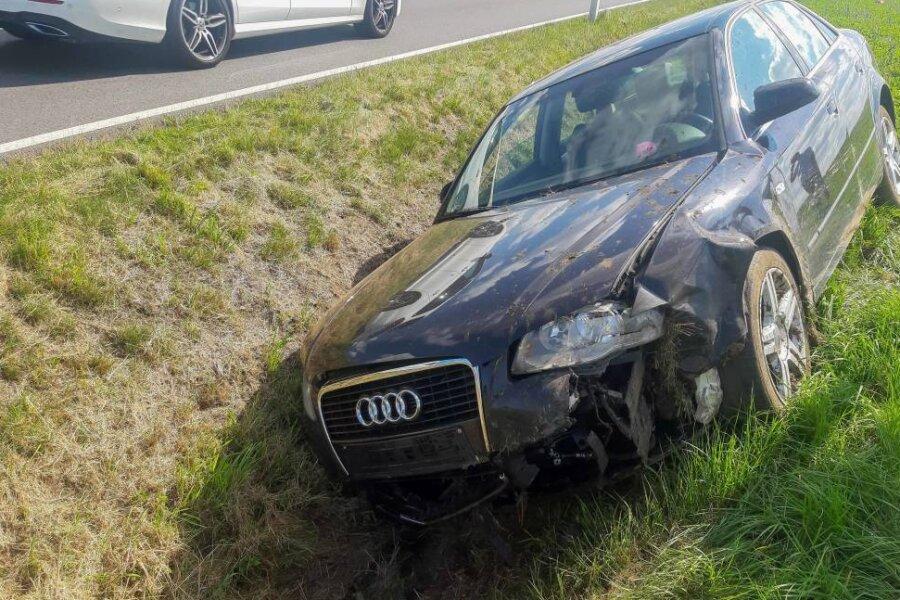 Erneut Unfall in Niederschöna