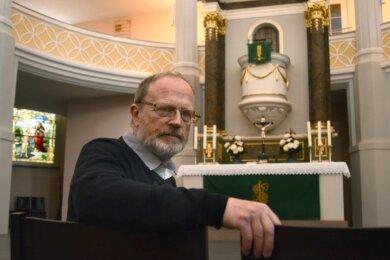 Johannes Kaufmann, Pfarrer der Kirchgemeinde Rebesgrün-Reumtengrün, koordiniert die Bildung des Christus-Kirchspiels im Vogtland.Foto: Joachim Thoß