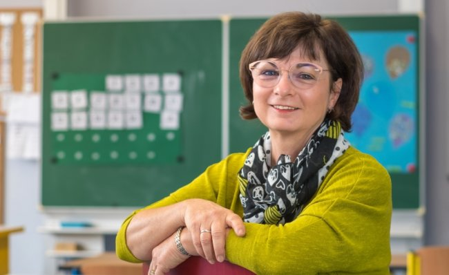 """Sabine Räthel ist Leiterin der Marienberger Schule mit dem Förderschwerpunkt geistige Entwicklung,""""Johann Ehrenfried Wagner""""."""