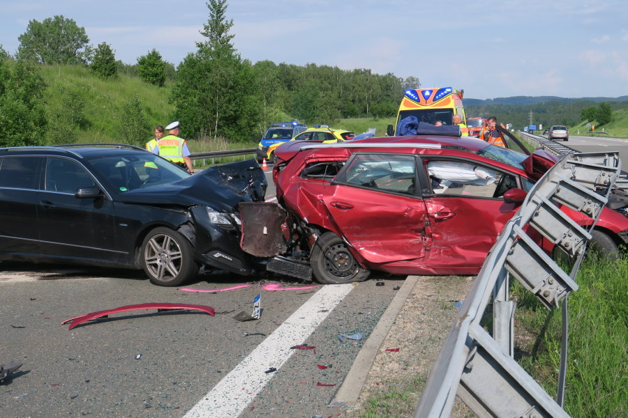 A72: Auffahrunfall sorgt für stundenlangen Stau
