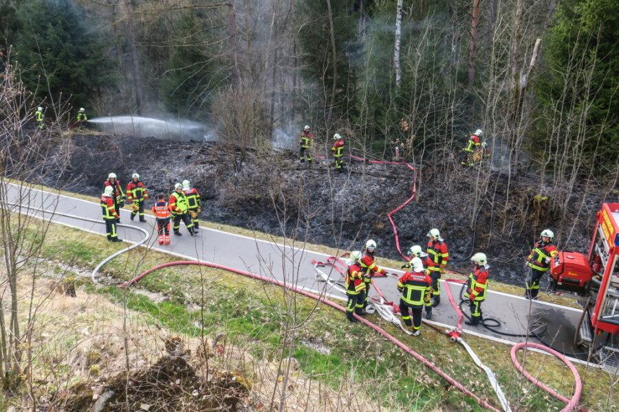 Böschungssbrand am Muldentalradweg