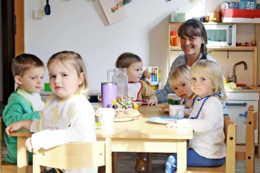 Tagesmutter Michaela Klärner und ihre fünf Sprösslinge. Zwanzig freie Tage - für Urlaub, Krankheit und Weiterbildung - stehen ihr jährlich zu. Sie wünscht sich, dass ein Springer ihre Kinder in dieser Zeit betreut.