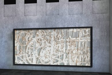 Ein hinterleuchtetes Bild aus Glas soll künftig das Technikum in der Innenstadt zieren.