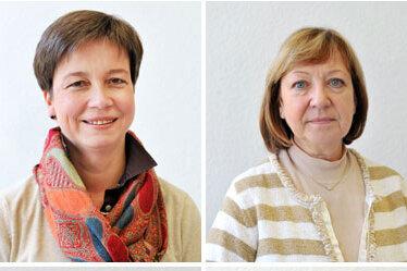 Die Experten: oben: Almut Patt und Martina Graf; unten: Stephanie A. Jost und Christina Mathern.