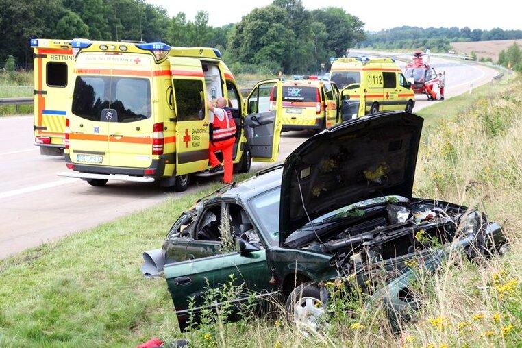 Hainichen: Drei Schwerverletzte bei Unfall auf A4