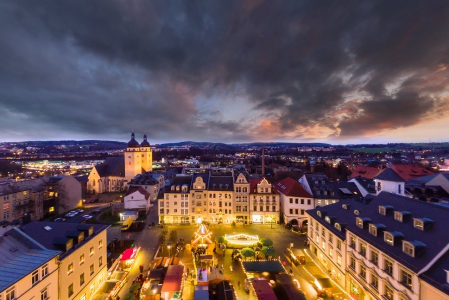 Der größte Weihnachtsmarkt des Vogtlands in Plauen soll am 23. November eröffnet werden.