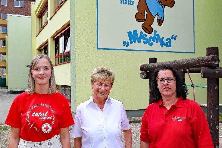 Liska Türpe, Elke Lippold und Annette Schmidt (v. l.) haben alle Erfahrungen mit dem Jugendfreiwilligendienst gesammelt.