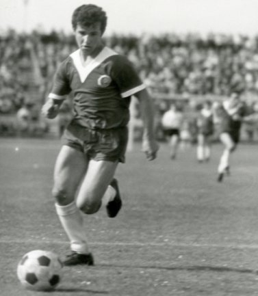 Gotthard Zölfl als Spieler der DDR-Juniorenauswahl.