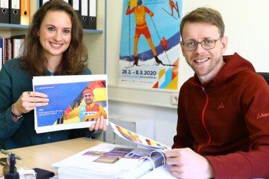 Tina Engel und Patrick Burkhardt überlegen, wie sie Oberwiesenthal voranbringen können. Eine entscheidende Möglichkeit sehen sie in der Kombination aus Sport und Erlebnis.