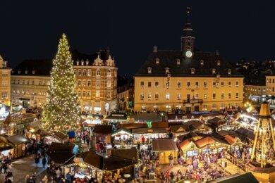Der Weihnachtsmarkt in Annaberg: Es ist schwer vorstellbar, dass es diesen Budenzauber in diesem Jahr nicht geben soll.