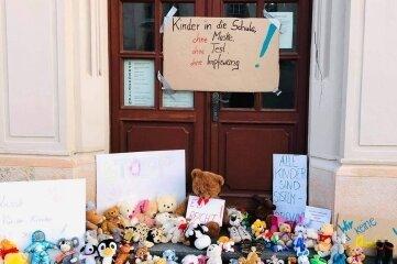 In Frauenstein war der Protest morgens noch sichtbar.