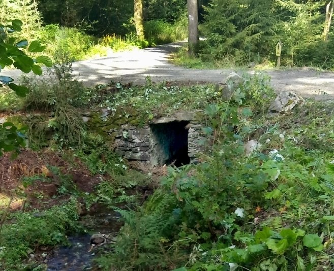 Der Vorgängerbau: ein steinerne Brücke, die mindestens 100 Jahre alt war.