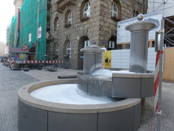 Der Springbrunnen wird immer wieder von Unbekannten heimgesucht.