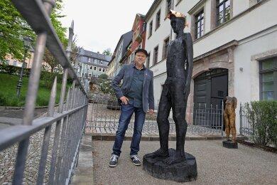 Siegfried Otto Hüttengrund darf als Erster im neuen Skulpturgarten ausstellen.