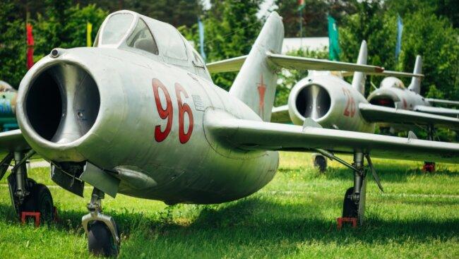 Das russische Original der Mig-15: Über Seiffen ist 1955 ein tschechischer Lizenzbau dieses Typs abgestürzt.