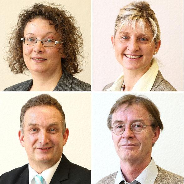 Expertenrat zum Thema Gesundheitsreform (v.l.o.n.r.u.): Kirstin Köhler (AOK), Elke Werz (Verband der privaten Krankenversicherung), Jens Melcher (Barmer/GEK) und Uwe Strachovsky (Journalist und Versicherungsexperte)