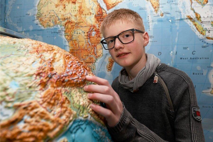 Georg Rabe, Siebtklässler aus St. Egidien, hat die sächsische Geografie-Olympiade der Oberschüler gewonnen.