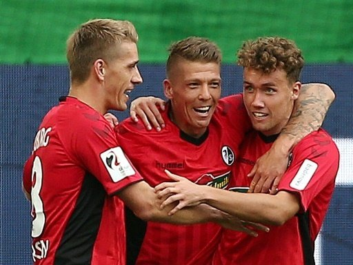 Freiburgs Torschützen: Petersen, Frantz und Waldschmidt