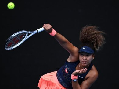 Naomi Osaka aus Japan in Aktion.