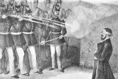 Von einem preußischen Standgericht im Zuge der Konterrevolution in Mannheim wegen Hochverrat zum Tode verurteilt und hingerichtet: Wilhelm Adolph von Trützschler (1818-1849). Das Mitglied der Falkensteiner Adelsfamilie war Anhänger der 48er-Revolution und saß im ersten deutschen Nationalparlament.