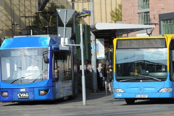 Gleisbau in Chemnitz: Busse ersetzen Straßenbahnen der Linie 2