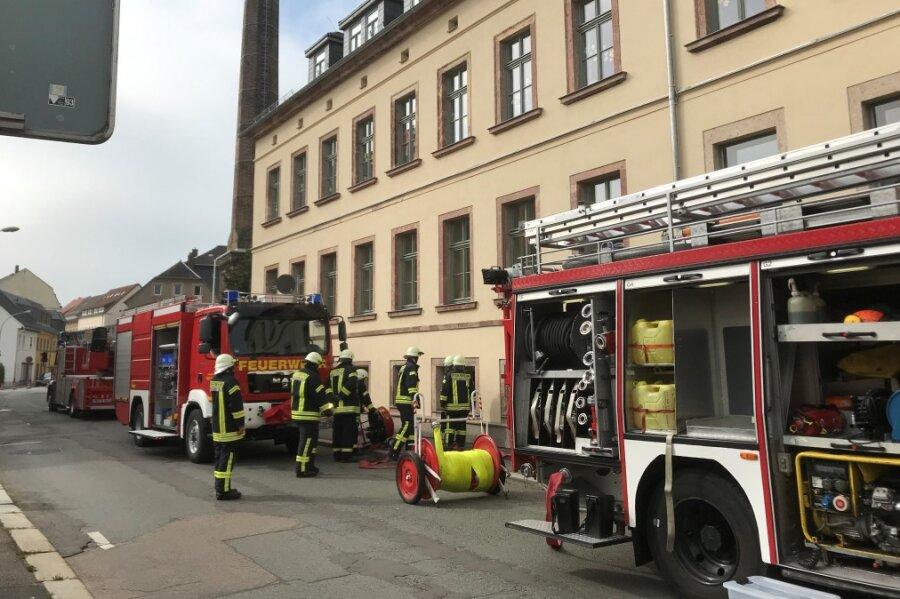 Kellerbrand im Schulhort in Hainichen