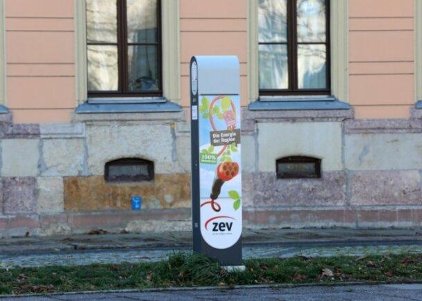 Zu geringe Auslastung: Eine ZEV-Ladesäule wartet auf Arbeit.