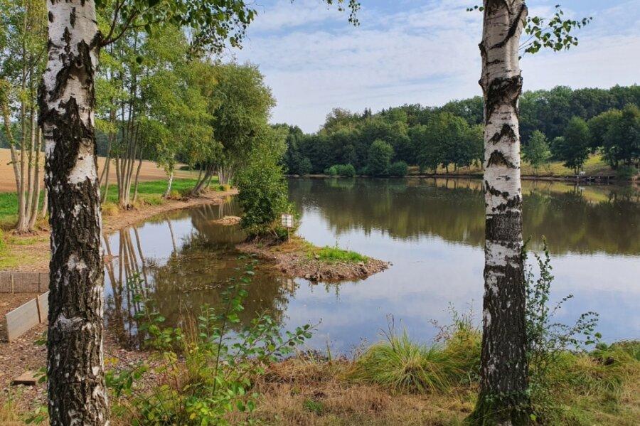 Diesen schönen Teich passieren die Wanderer auf dem Weg zum Rümpfwald.
