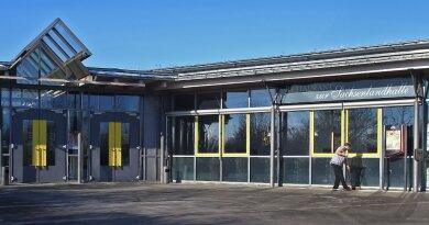 Der Kreistag Zwickau tagt in der Sachsenlandhalle Glauchau.