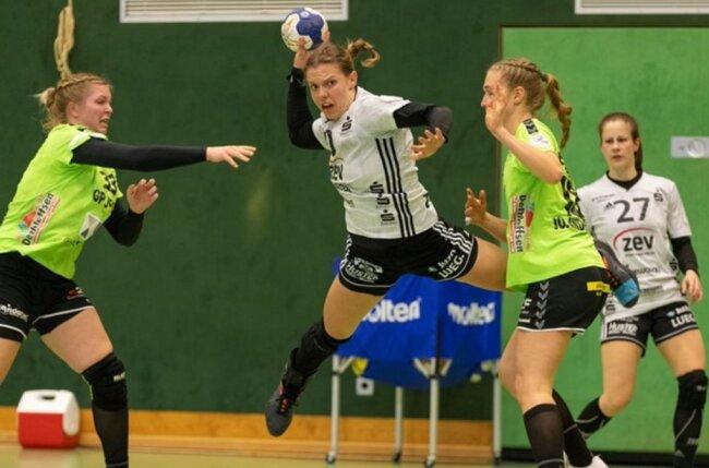 Petra Nagy erzielte in Harrislee fünf Treffer für den BSV Sachsen Zwickau.