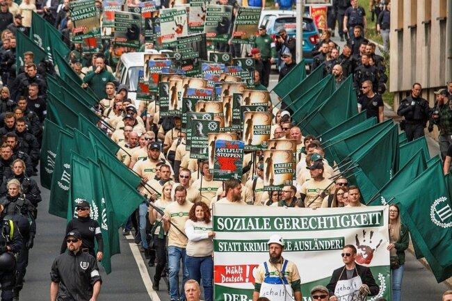So marschierte der III. Weg 2019 durch Plauen.