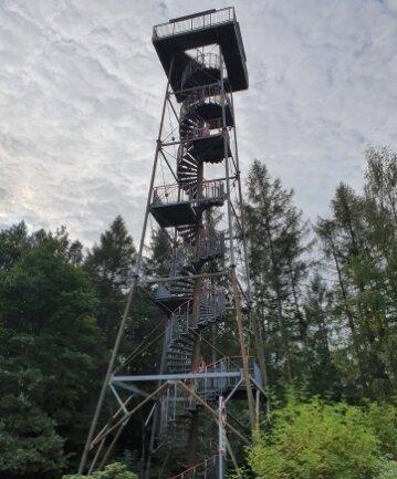 Der Aussichtsturm auf der Albert-höhe ist 29 Meter hoch und wurde 1993 eingeweiht.