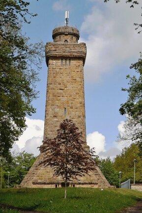 Der Bismarckturm in Glauchau steht vor dem zweiten Bauabschnitt der Sanierung.