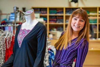Sara Linke leitet seit Juni 2020 ein Textilunternehmen in Hohenstein-Ernstthal.