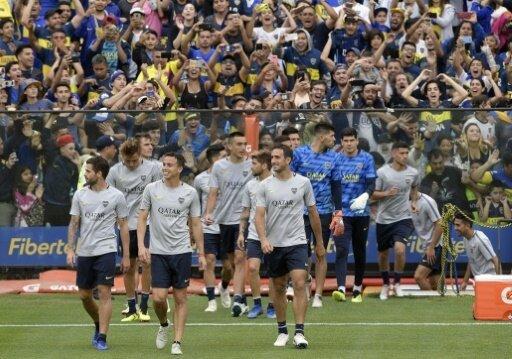 Großer Andrang beim Training der Boca Juniors