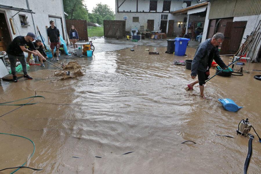 """Nach Überschwemmungen in Glauchau: """"Das war kein typisches Hochwasser"""""""