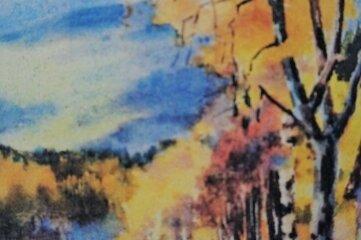 Herbst im Quittenbachtal. Gerhard Oßmann malte dieses Bild 1983.