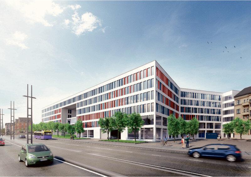 So soll das neue Technische Rathaus in dem Neubau im Conti-Loch aussehen.