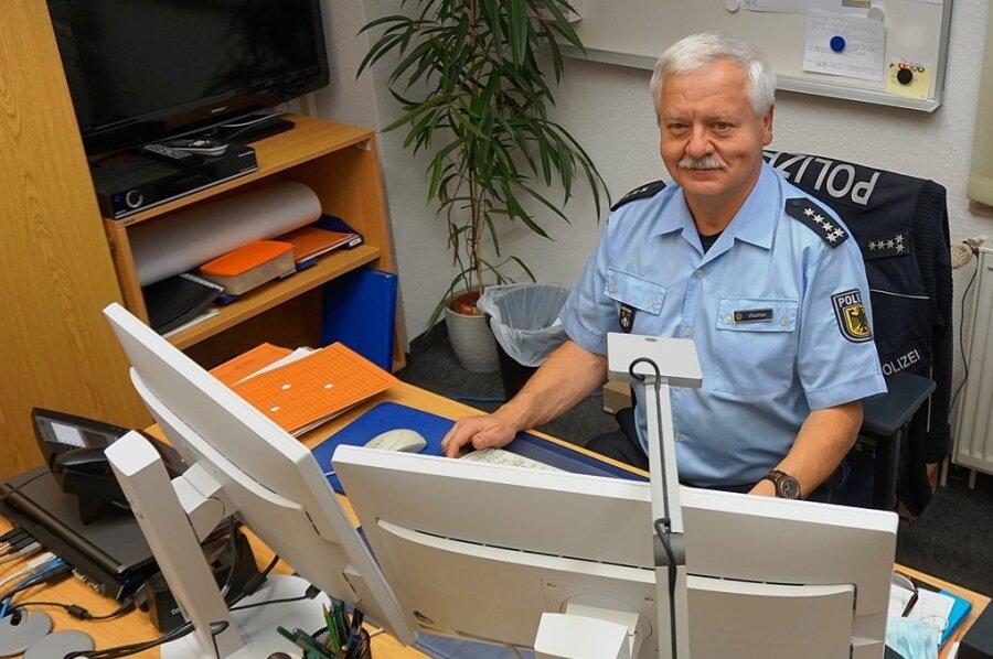 Erster Polizeihauptkommissar Hans-Ulrich Wachter, Leiter der Bundespolizei-Inspektion Klingenthal.