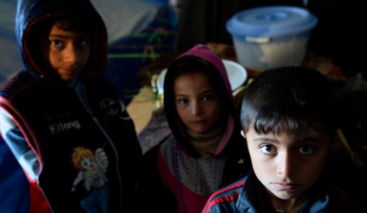 Kinder, die mit ihren Familien vor der Terrormiliz IS geflohen sind, in einem Camp im Nordirak. Nur wenige gelangen nach Europa.