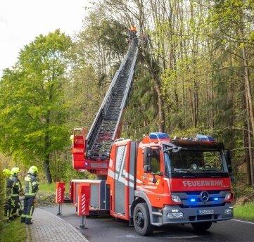 Mehr als zwei Stunden lang war die Feuerwehr im Einsatz.