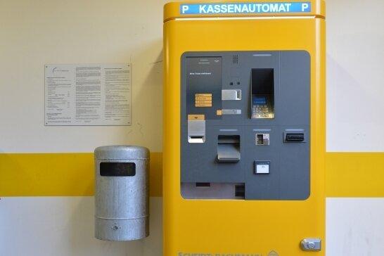 Inzwischen ist der Parkautomat im Freiberger Altstadt-Parkhaus wieder voll funktionsfähig.