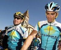 Die Top-Fahrer bei Astana: Lance Armstrong (l.) und Alberto Contador