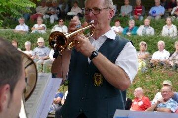 Beeindruckte mit Trompete und mit Witzen: Lutz Wendler.