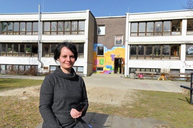 Cäcilia Jungk ist die Leiterin des Horts in Burkhardtsdorf und hat konkrete Ideen und Vorstellungen, wie man den Hort im Zuge der geplanten Baumaßnahme konzeptionell umgestalten kann.
