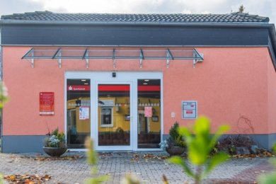 Die Sparkassenfiliale in Bad Schlema soll bald schließen.