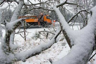 Winterdienst weiterhin im Dauereinsatz