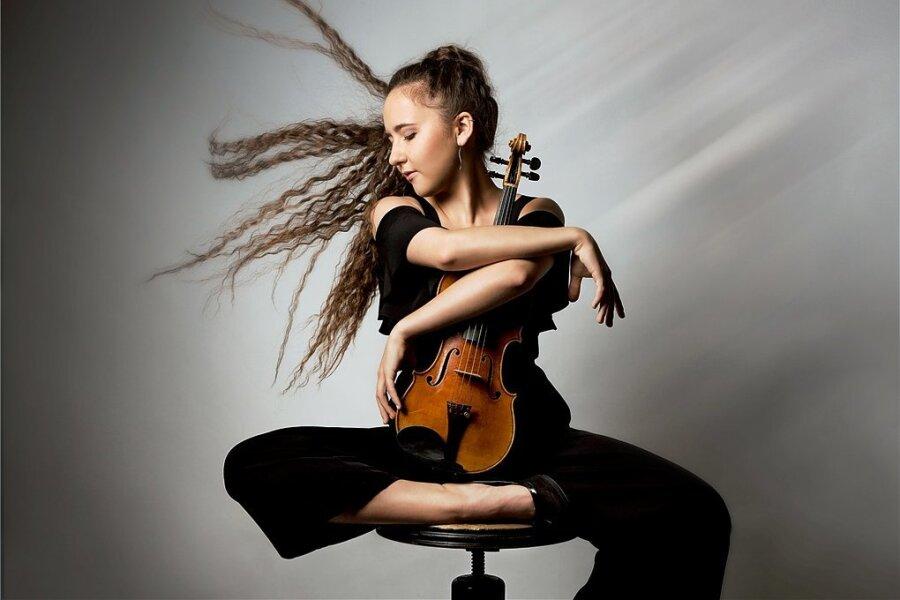 Ausnahmetalent auf der Geige: Lucie Bartholomäi aus Marienberg.