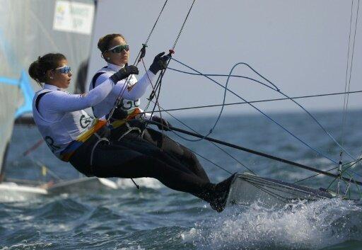 Victoria Jurczok und Annika Lorenz sind gut im Rennen